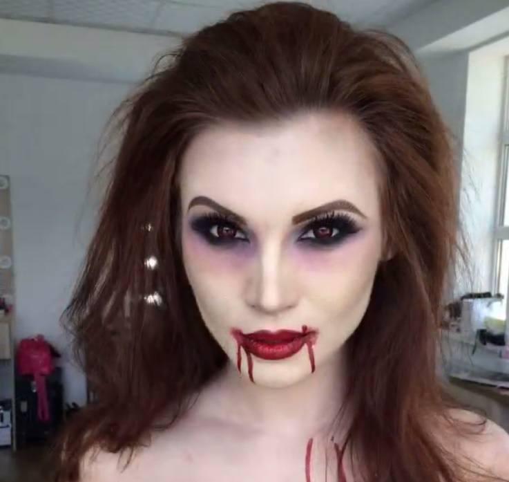 Coiffures de vampires : Poudre de Rose - IMAGE - cheveux bruns Idées de cheveux pour Halloween 2016