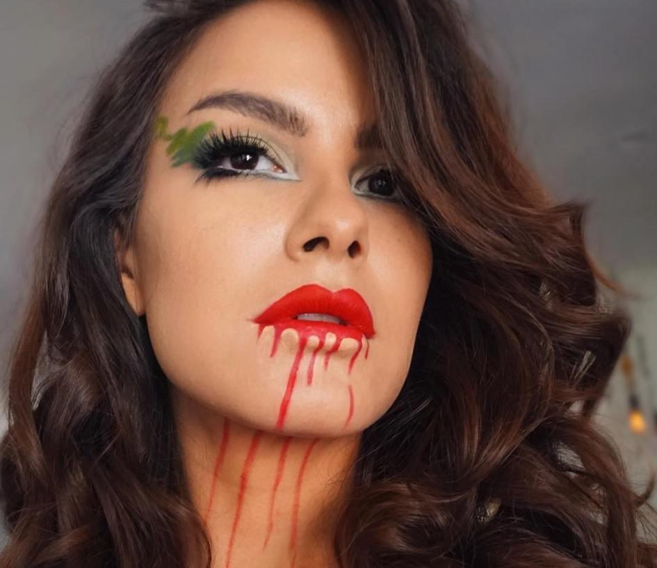 Coiffures de vampires : Poudre de Rose - IMAGE - boucles de cheveux bruns ondulent des idées de cheveux pour Halloween 2016