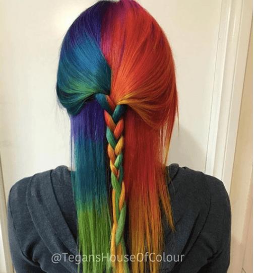 couleur des cheveux de sirène