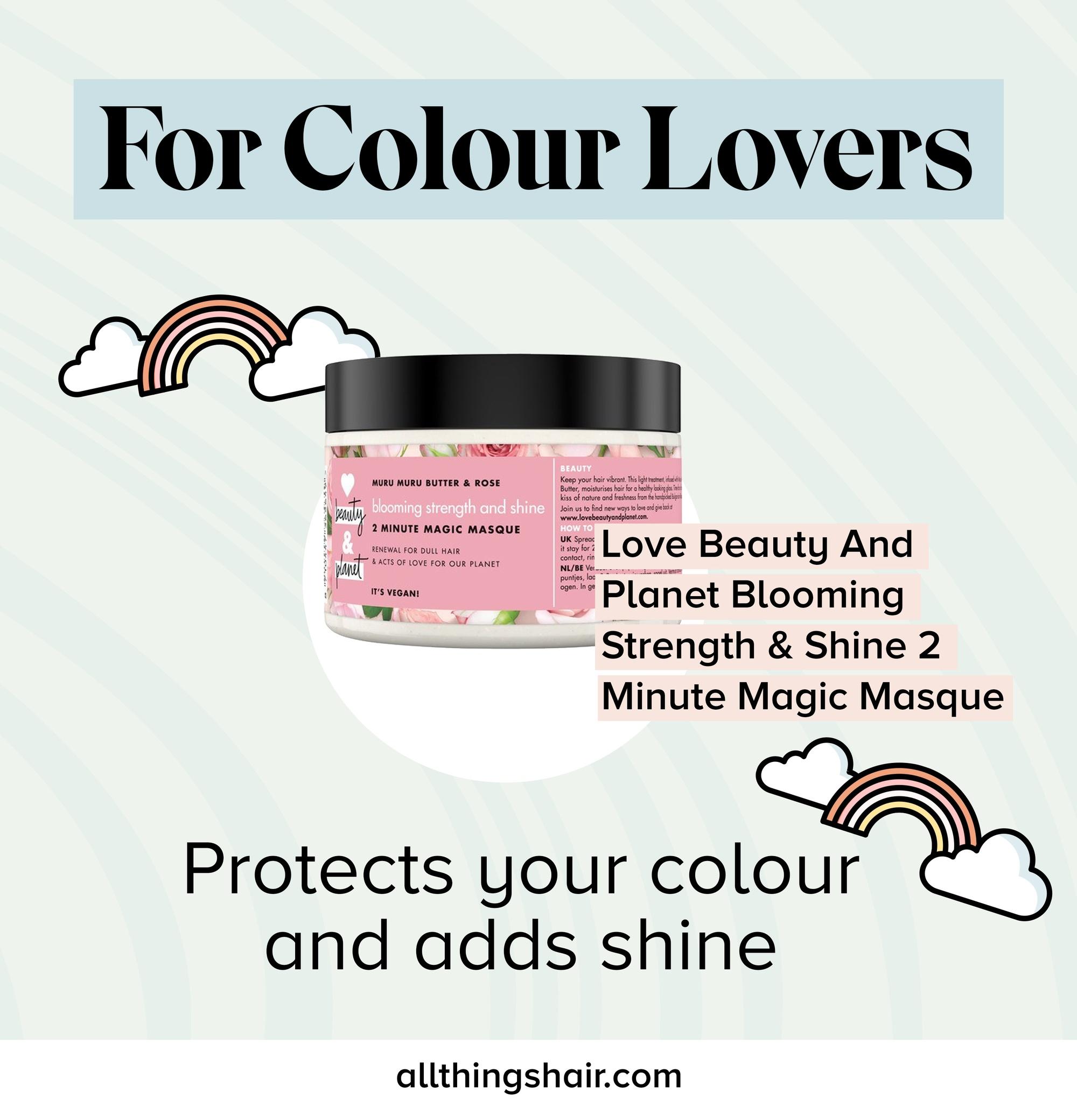 Masque coloré pour cheveux infographique