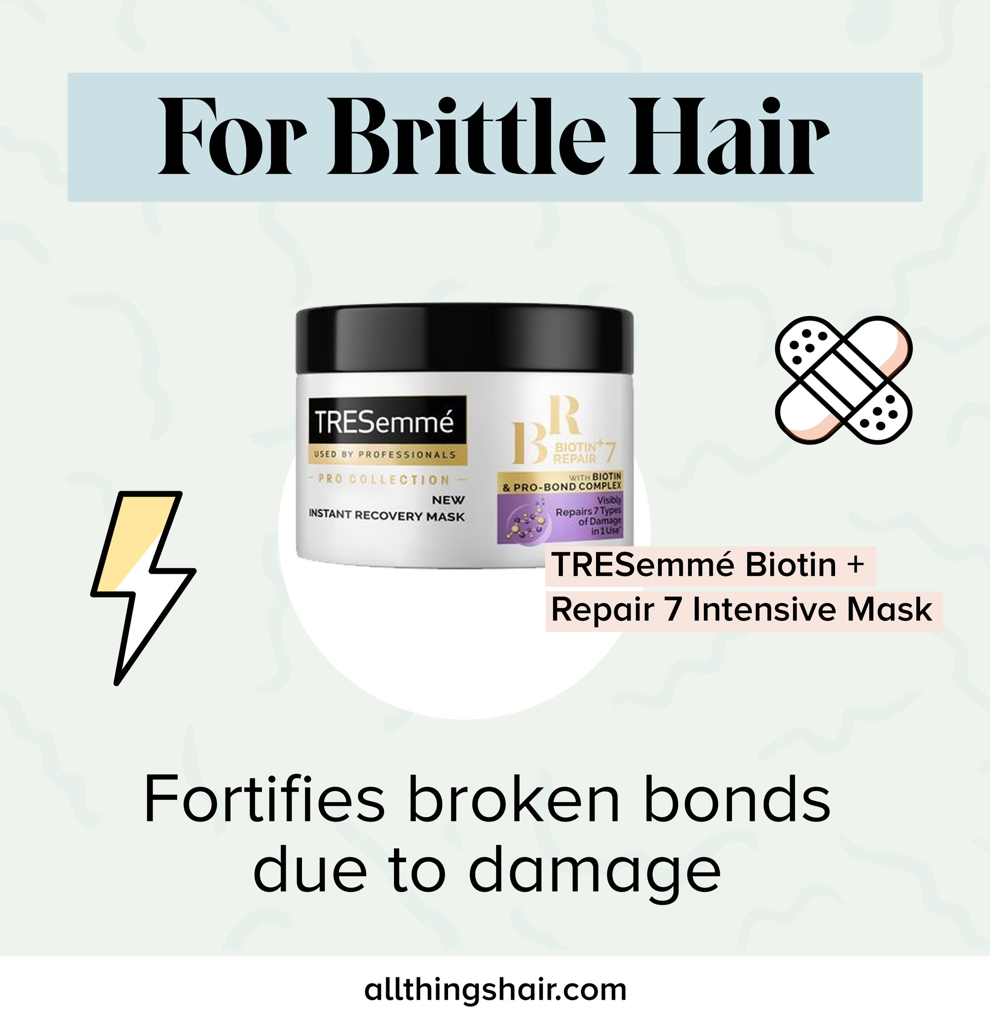 Masque capillaire fragile infographique
