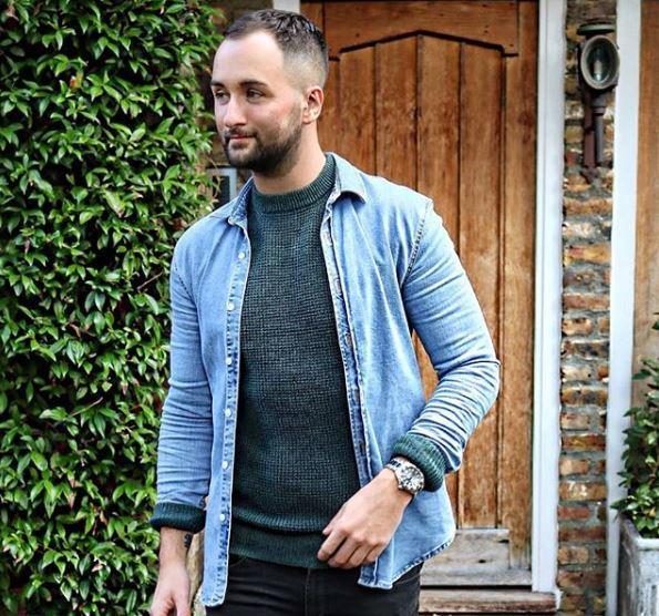 Jacksjournal blogger : homme barbu portant une chemise en jean