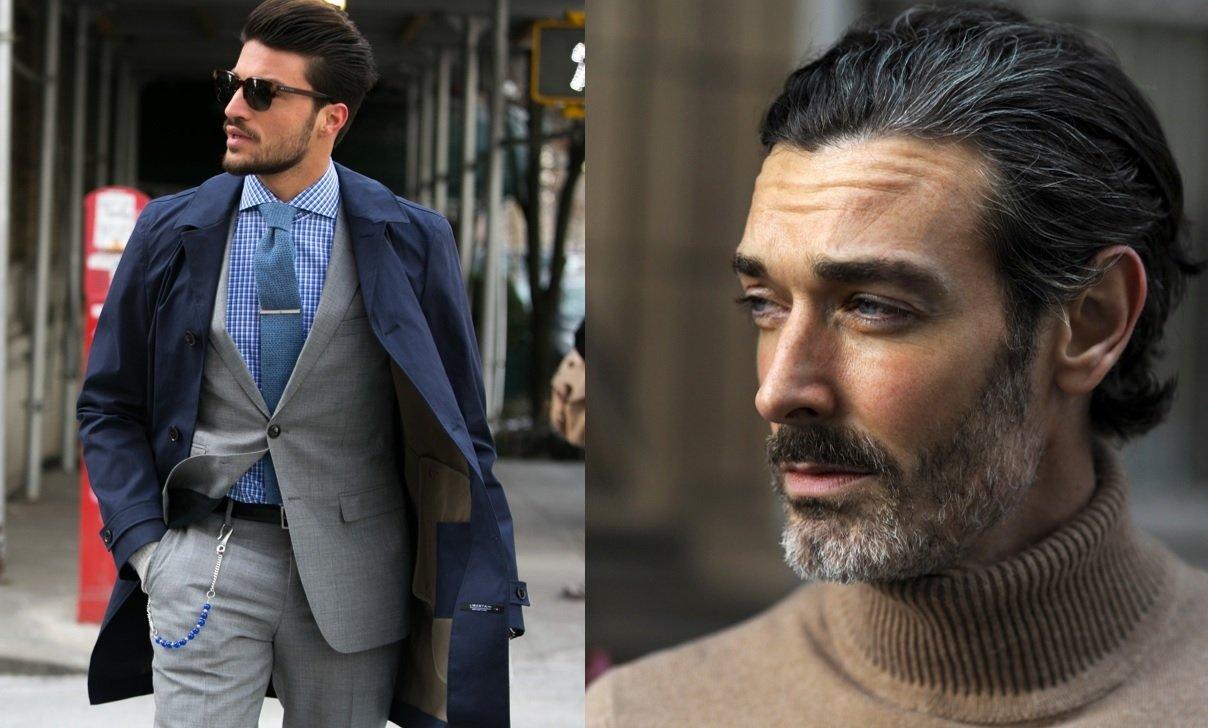 Guide des styles de barbe : Plan de rue de deux hommes à la barbe courte et élégante