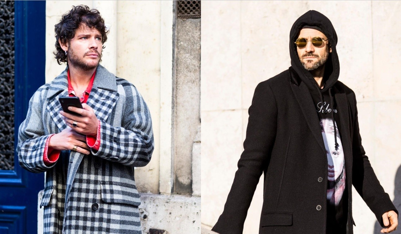 Barbe : Style de rue de deux hommes avec une barbe courte et soignée