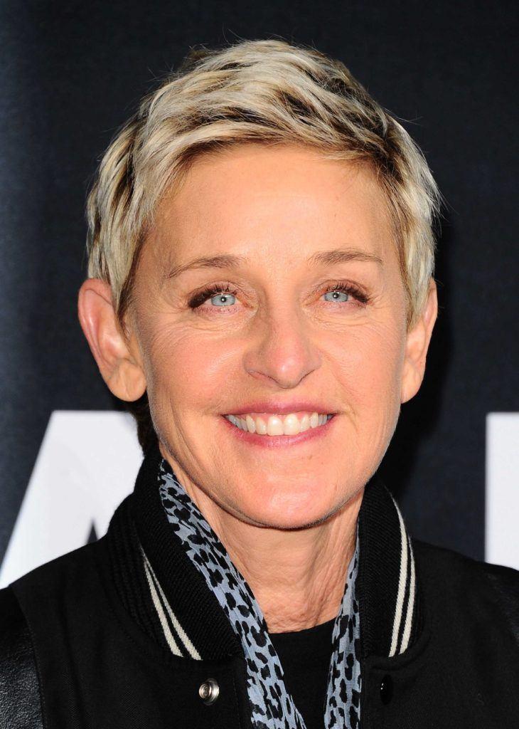 Ellen Degeneres, lutin blond