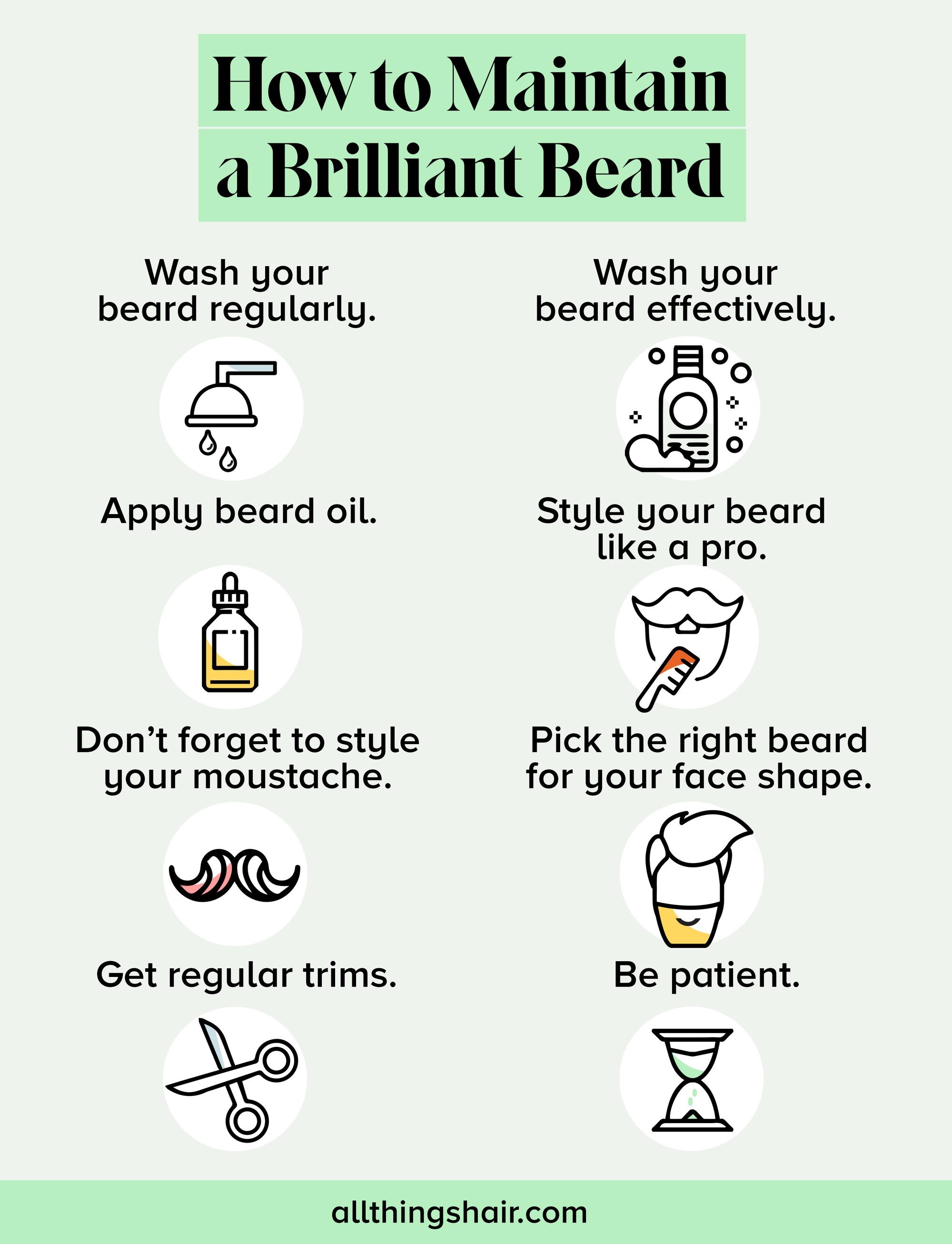 Conseils pour le toilettage de la barbe Infrographie