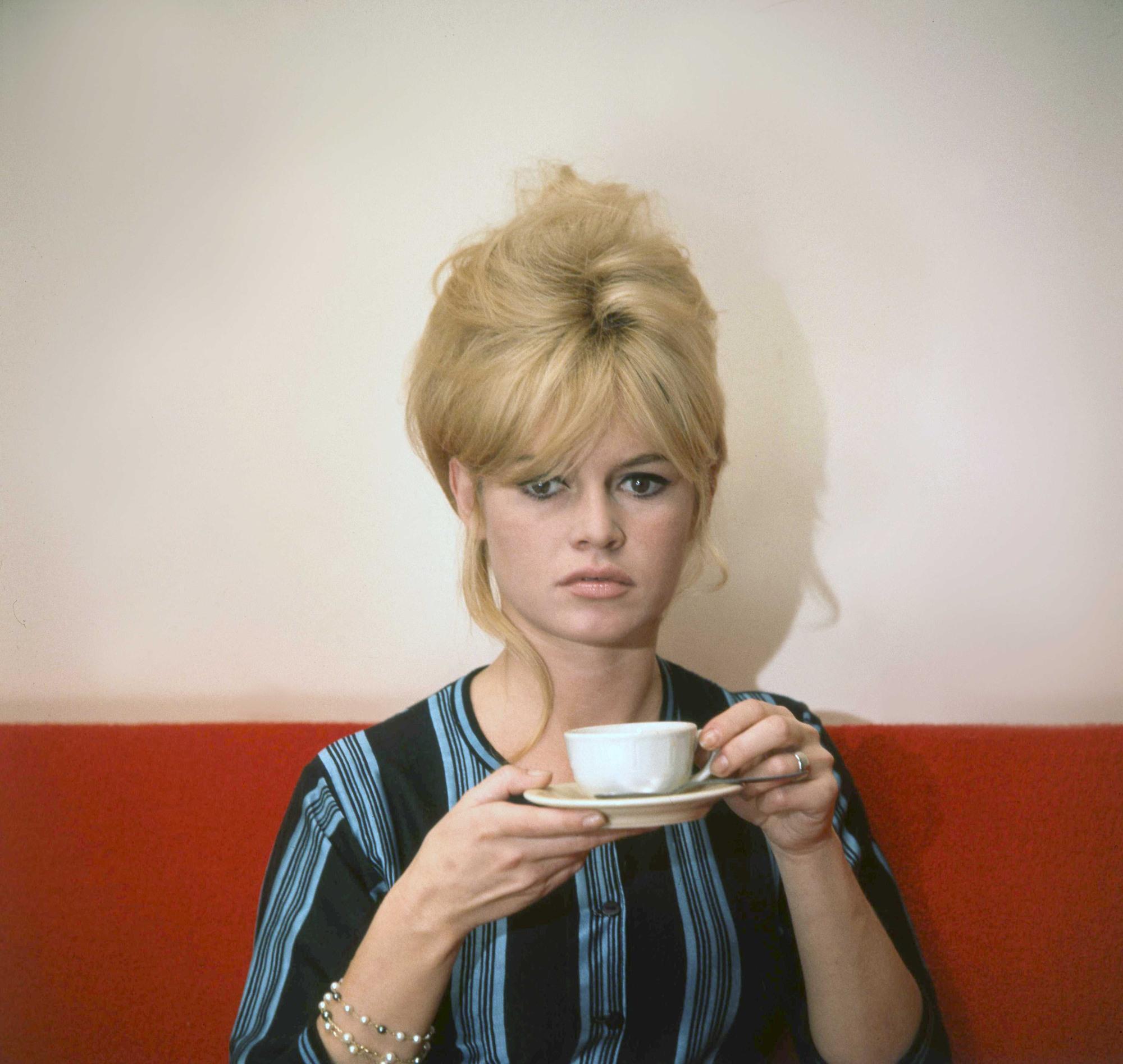 l'actrice française brigitte bardot avec ses cheveux en haristyle