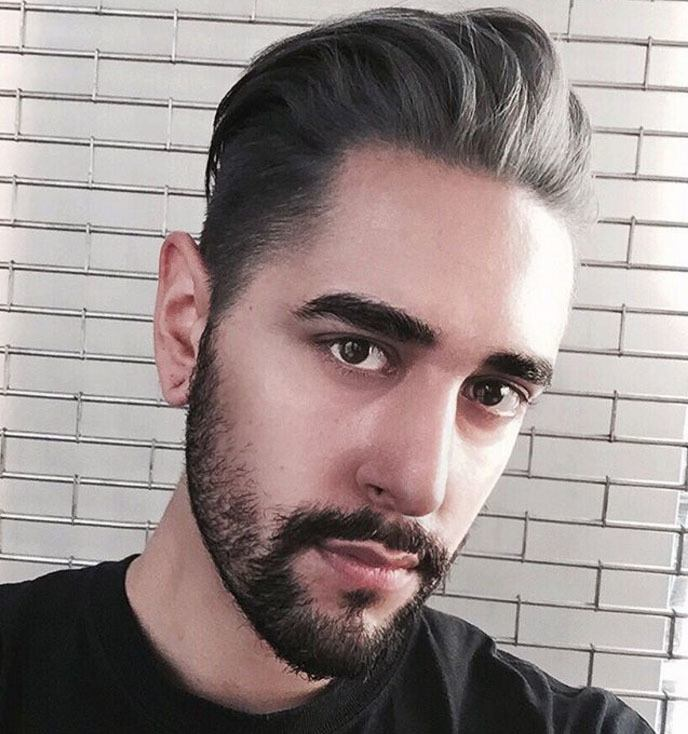 blogger jameswlsh with grey slicked back quiff hairstyles mens hairstyles 2017 trends