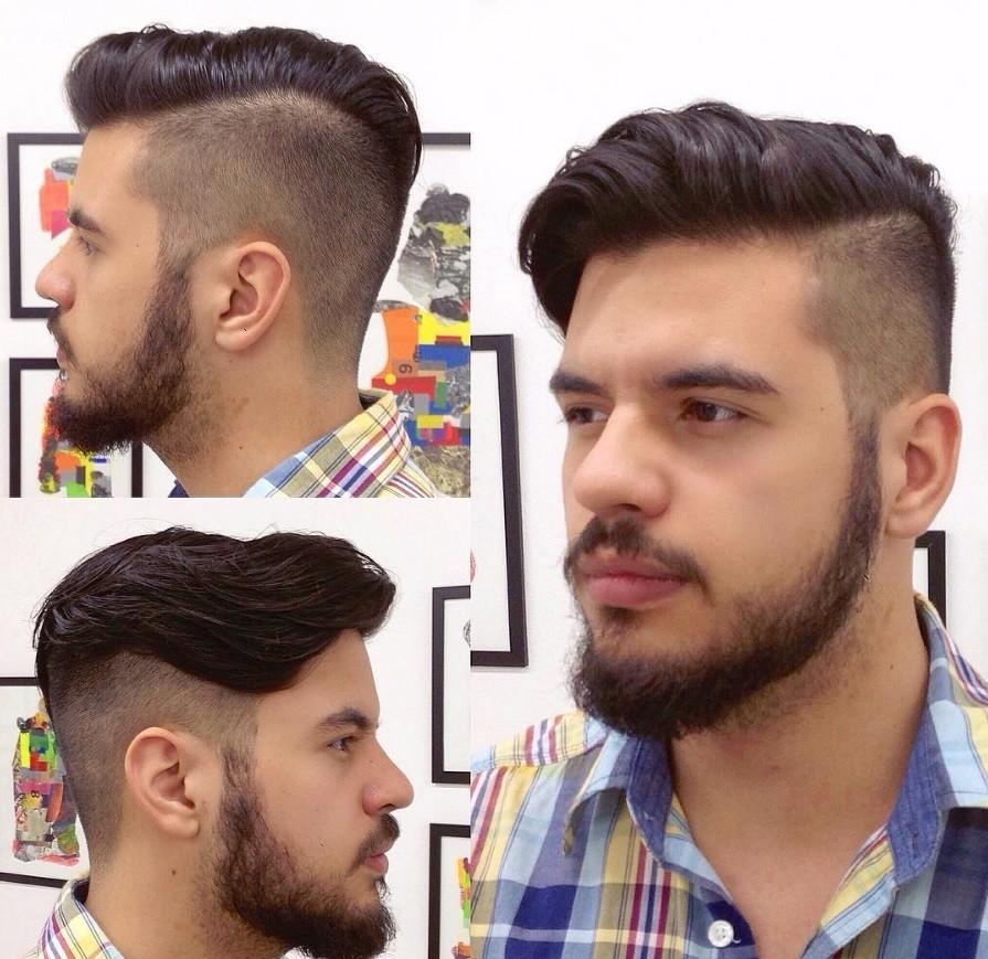 homme en chemise à carreaux avec une coiffure extrême