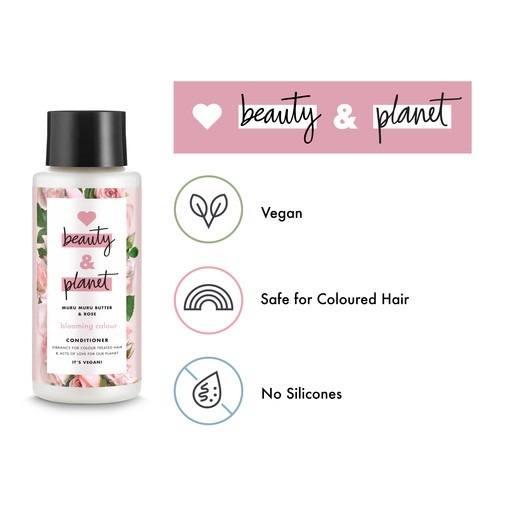 Love Beauty And Planet - info graphique végétalienne de l'après-shampoing