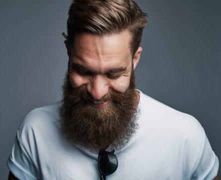 Homme à la barbe et au peigne brun clair