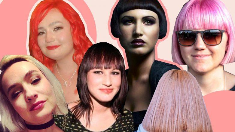 Des femmes aux coiffures et couleurs de cheveux différentes