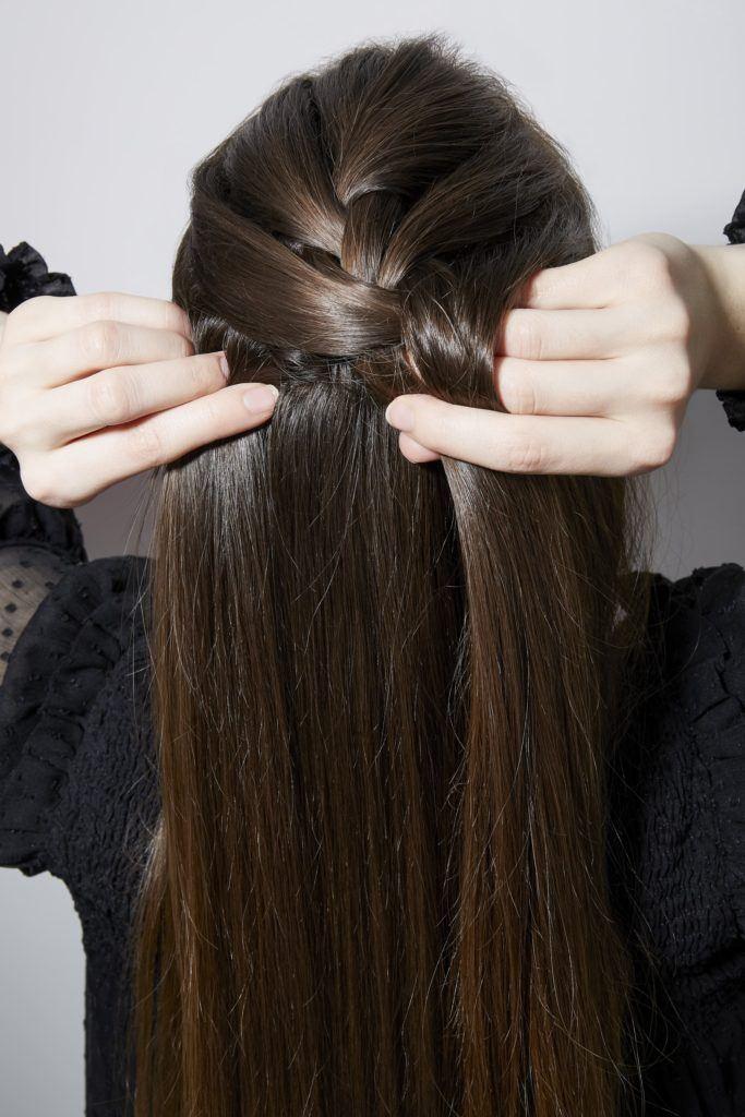 Comment tresser ses propres cheveux à la française avec des cheveux bruns