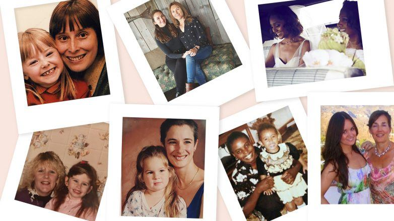 collage de mères et de filles