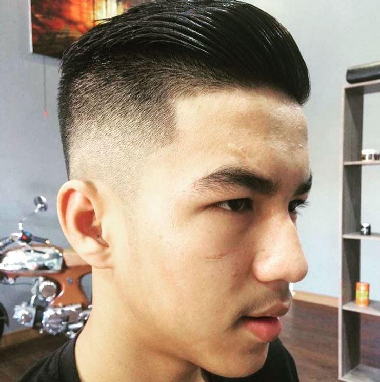 Coupe courte pour hommes - cheveux quiff slick back - Instagram