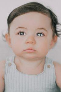 Gros plan sur une campagne de mannequinat pour bébés de Bonnie and Betty.