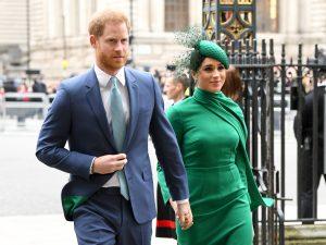 Le prince Harry, duc de Sussex, et Meghan, duchesse de Sussex, assistent au Commonwealth Day Service 2020 à l'abbaye de Westminster, le 9 mars 2020 à Londres, en Angleterre.