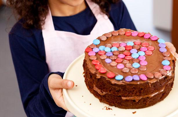 Gâteau au chocolat Smartie