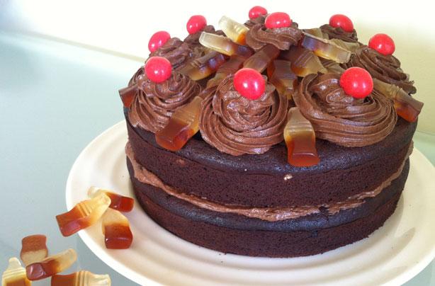 gâteau au chocolat et au cola