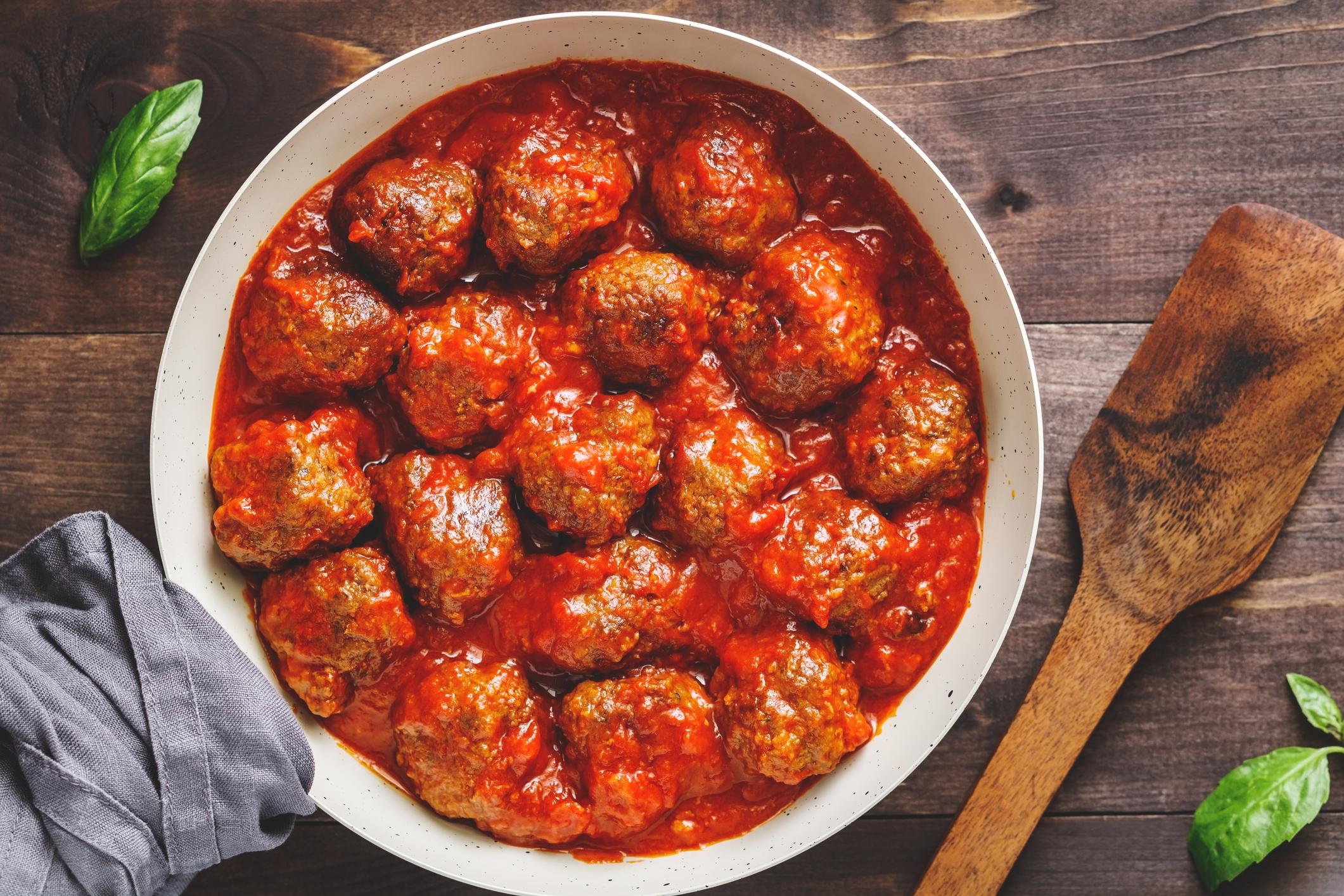 boulettes de viande, un des plats du régime sans sucre