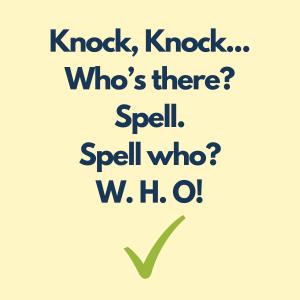 blague d'orthographe pour les enfants