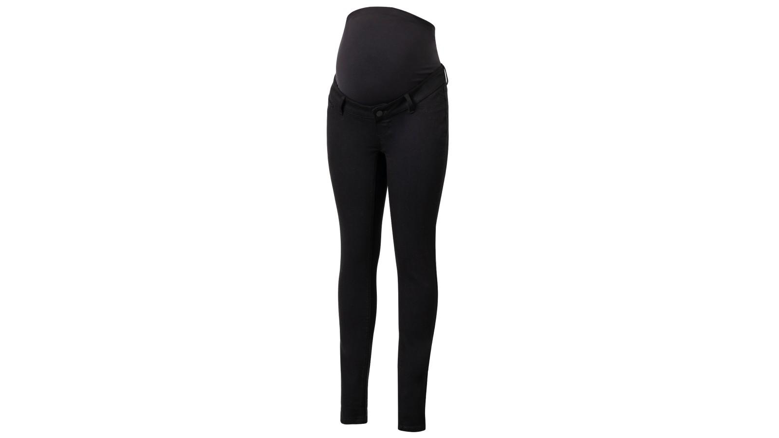 Jeans de maternité noir en coton organique Seraphine Over Bump