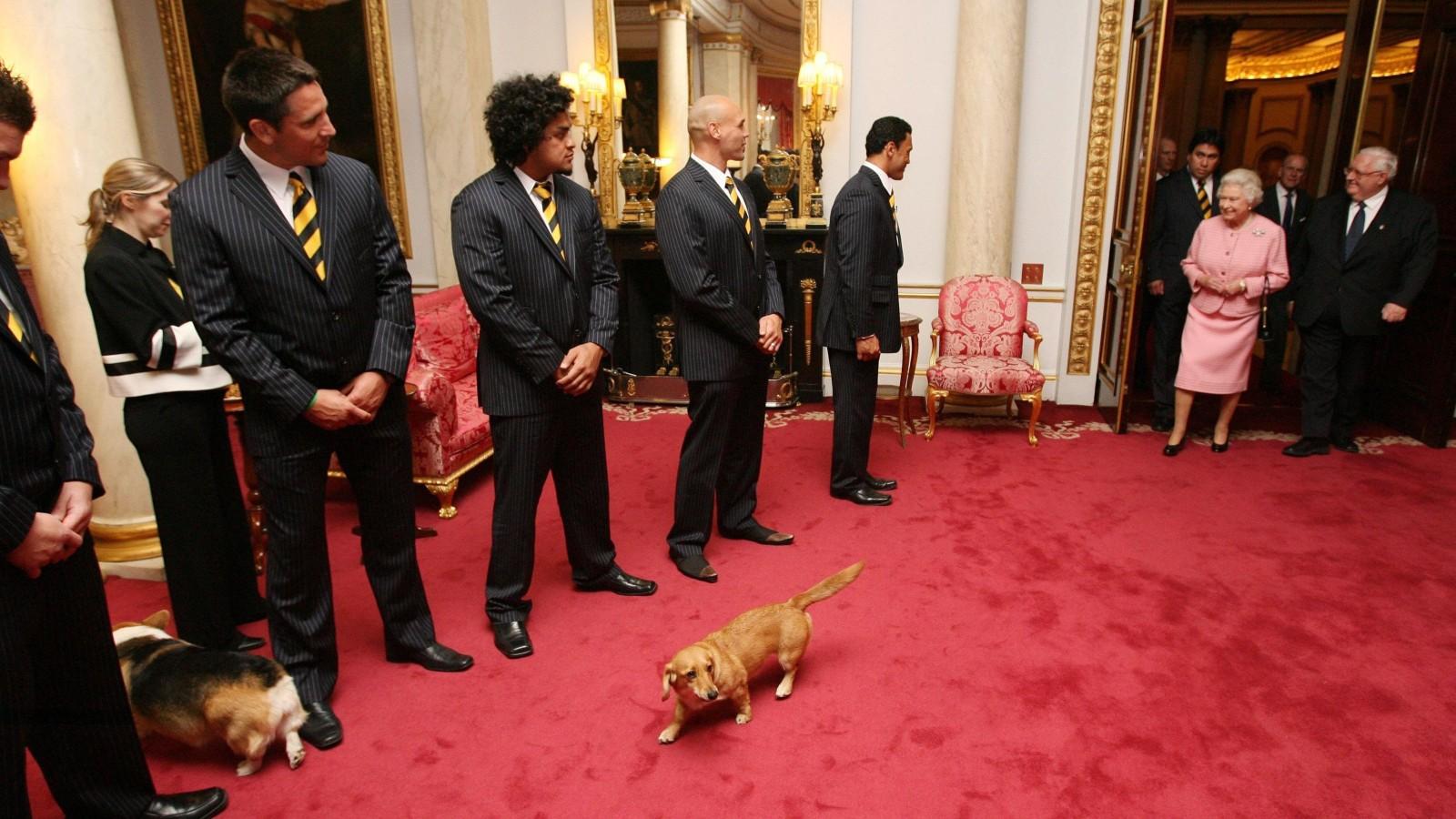 La Reine à l'intérieur de Buckingham Palace