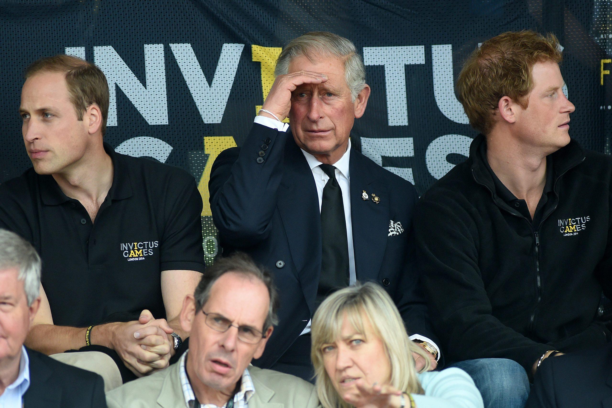 Prince Harry, Prince William et Prince Charles
