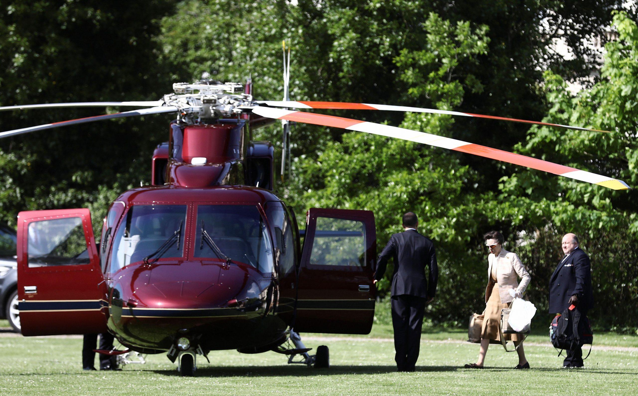 Princesse Anne, hélicoptère royal