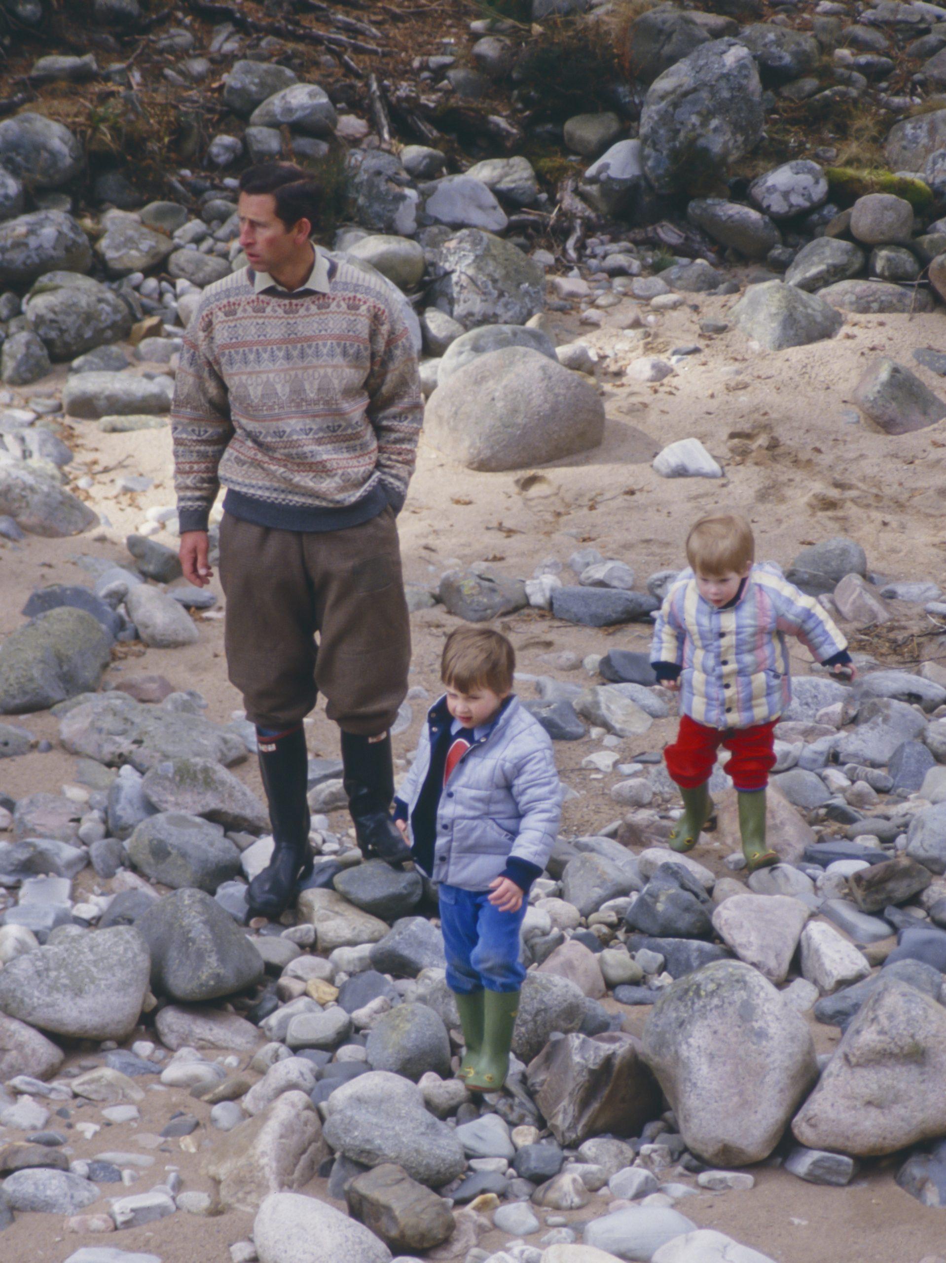 Le prince Charles et ses fils, le prince William et le prince Harry