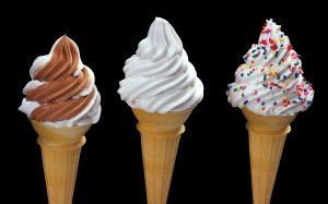 Trois variations de la crème glacée 99