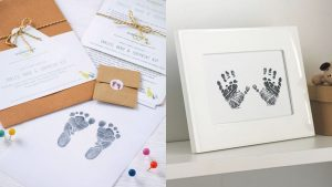 Kit d'impression sans encre des mains et des pieds de bébé - cadeau pour les nouvelles mamans