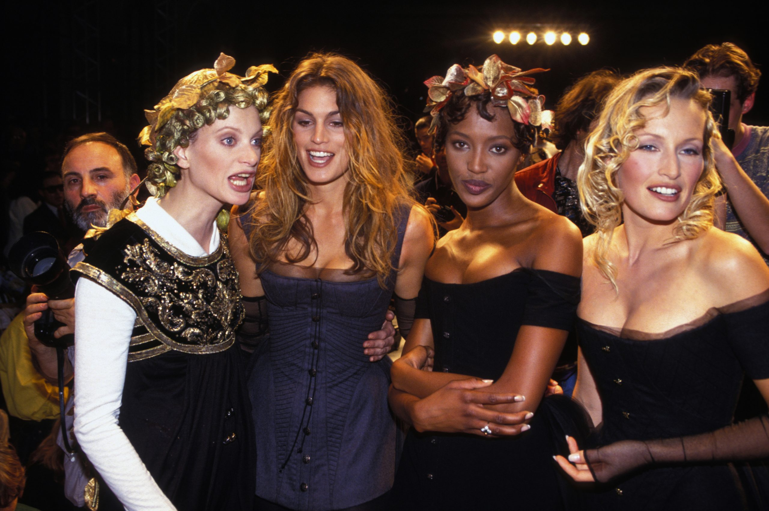 Les idoles du Prince William : Cindy Crawford et Naomi Campbell.