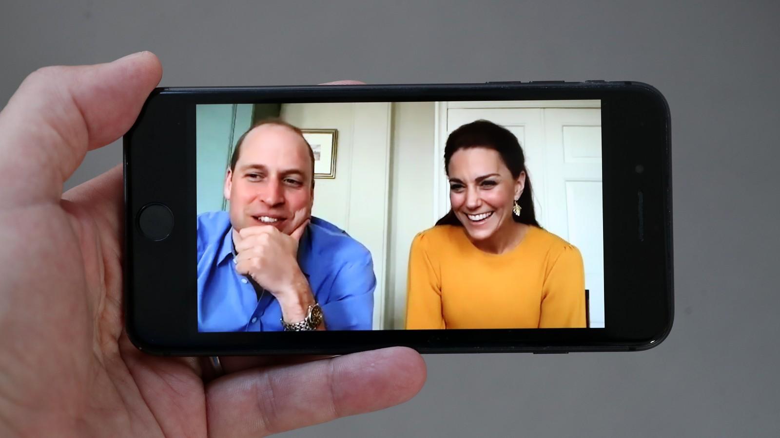 Le Prince William et Kate Middleton sur Zoom call