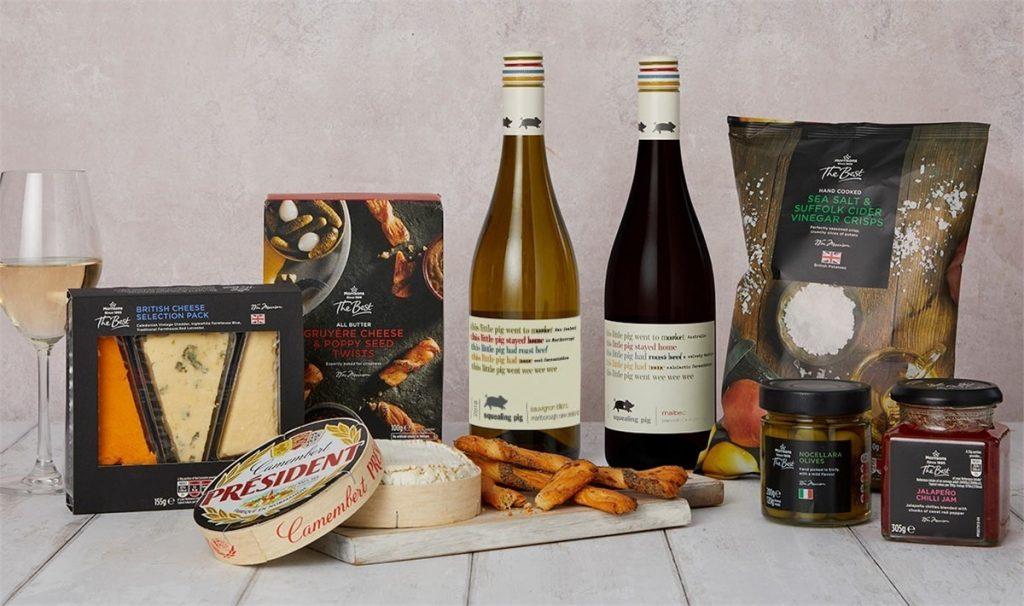 Boîte de partage de fromage et de vin