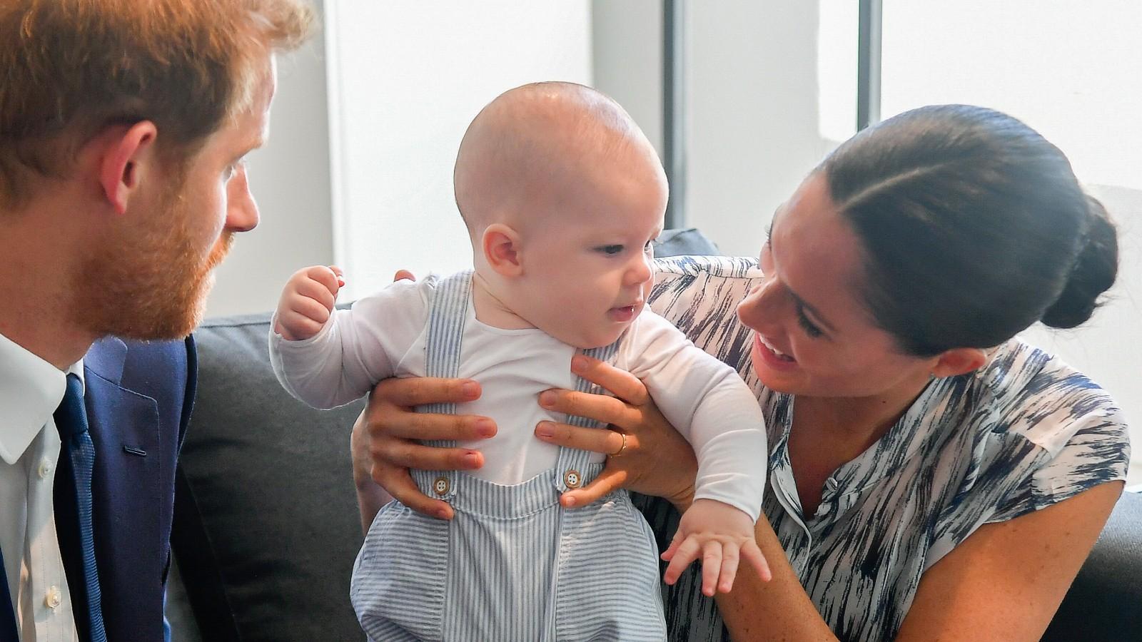 Le Prince Harry, Meghan et leur fils Archie