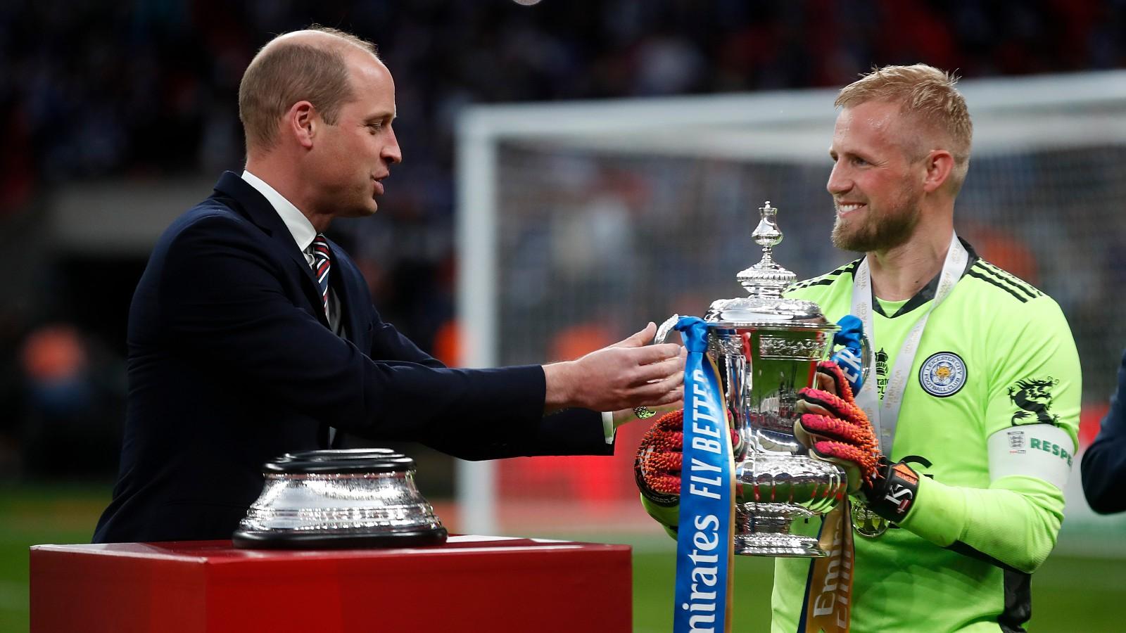 Le Prince William lors de la finale de l'Emirates FA Cup entre Chelsea et Leicester City au stade de Wembley le 15 mai,