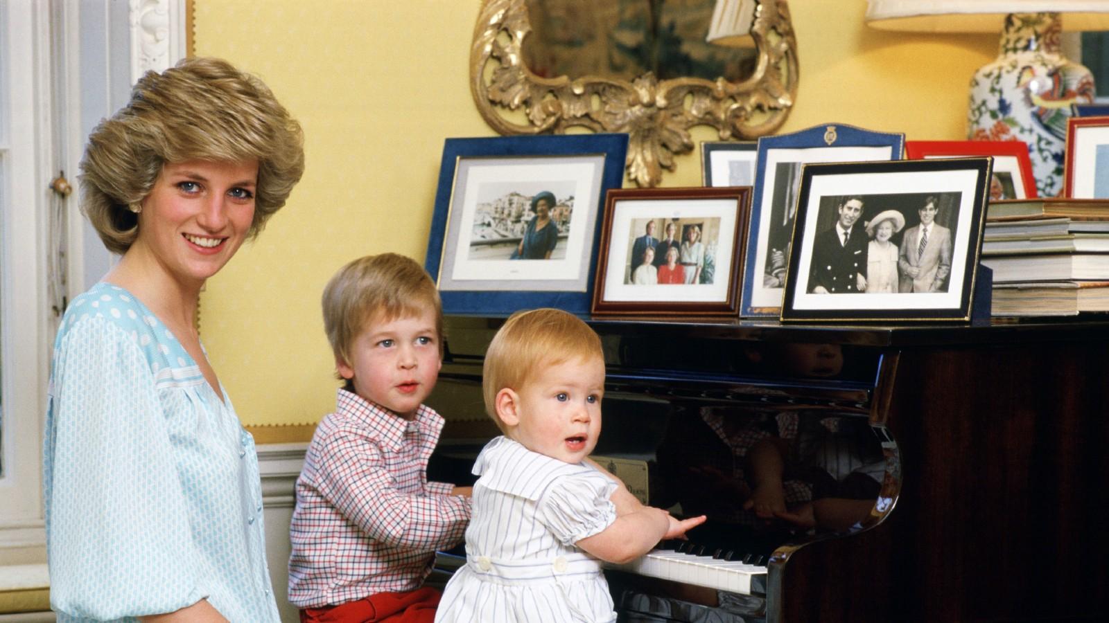 Le prince Harry, la princesse Diana et le prince William