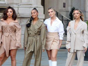 Les Little Mix posent dans la rue avant leur concert