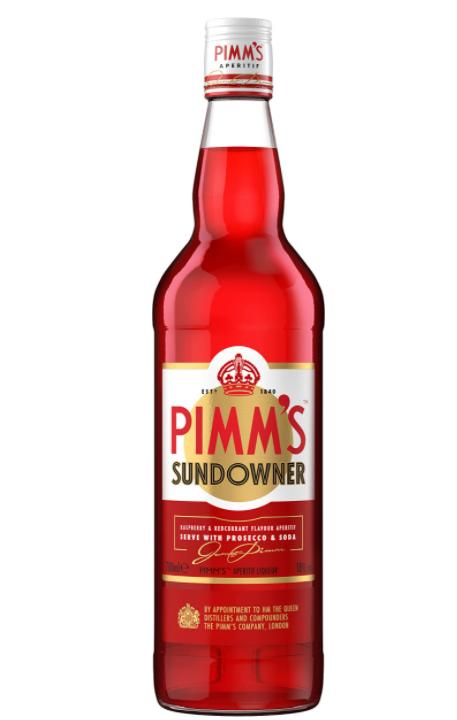 Apéritif Pimm's Sundowner aromatisé à la framboise et à la groseille