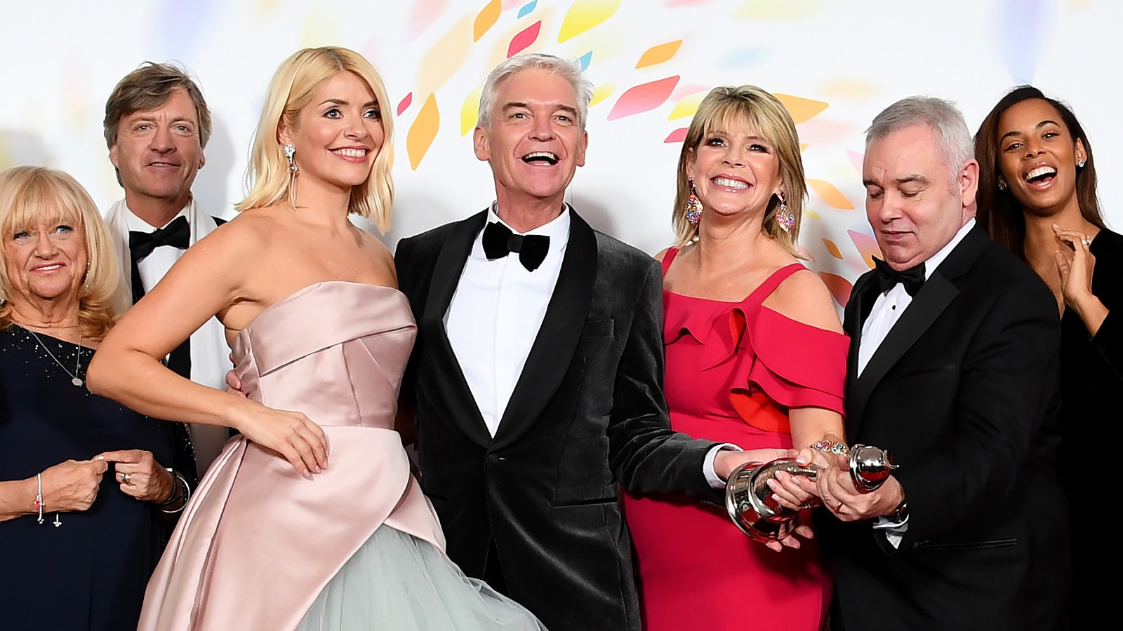 Ce matin, Ruth Langsford, Eamonn Holmes, Holly Willoughby, Phillip Schofield, Richard et Judy Finnegan, et Rochelle Humes.