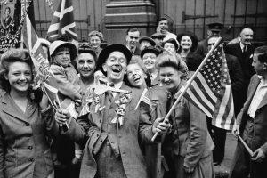 Le jour de la VE en 1945