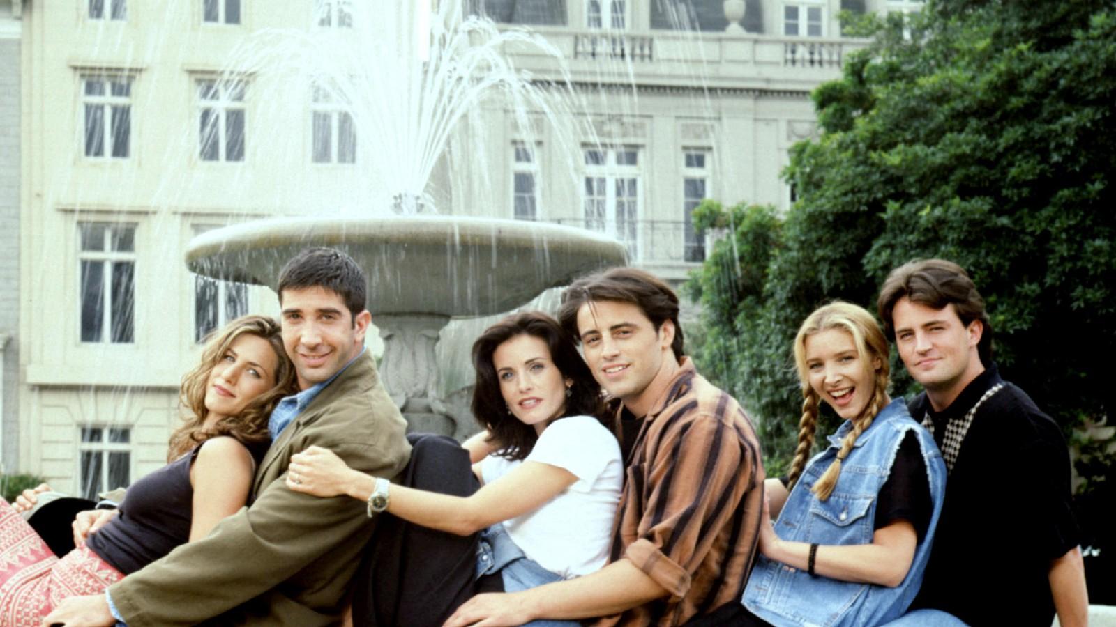 Le casting de Friends Jennifer Aniston, David Schwimmer, Courteney Cox Arquette, Matt LeBlanc, Lisa Kudrow, Matthew Perry, (Saison 1)