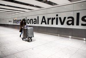 Porte des arrivées internationales de l'aéroport d'Heathrow