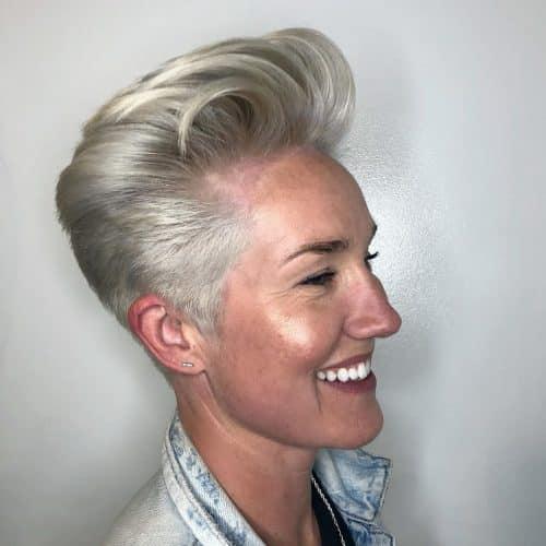 coupe androgyne pour cheveux épais