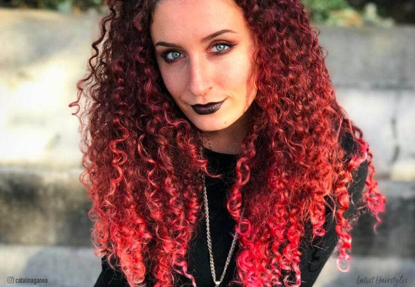 Ombre curly hair ideas