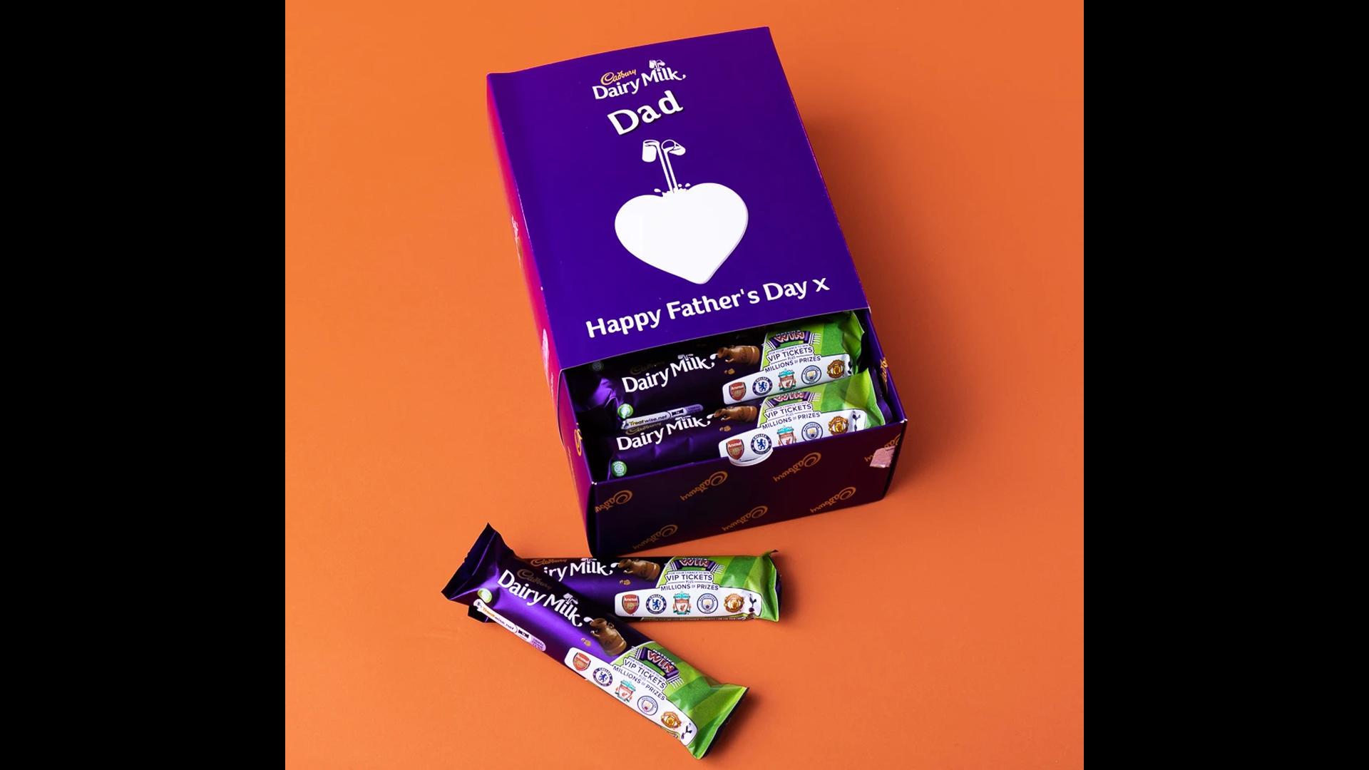 Un de nos paniers personnalisés pour la fête des pères - coffret Cadbury