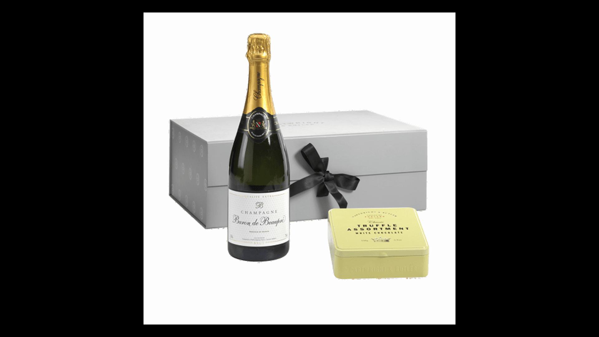 Un coffret de champagne et de truffes - un de nos paniers de fête des pères