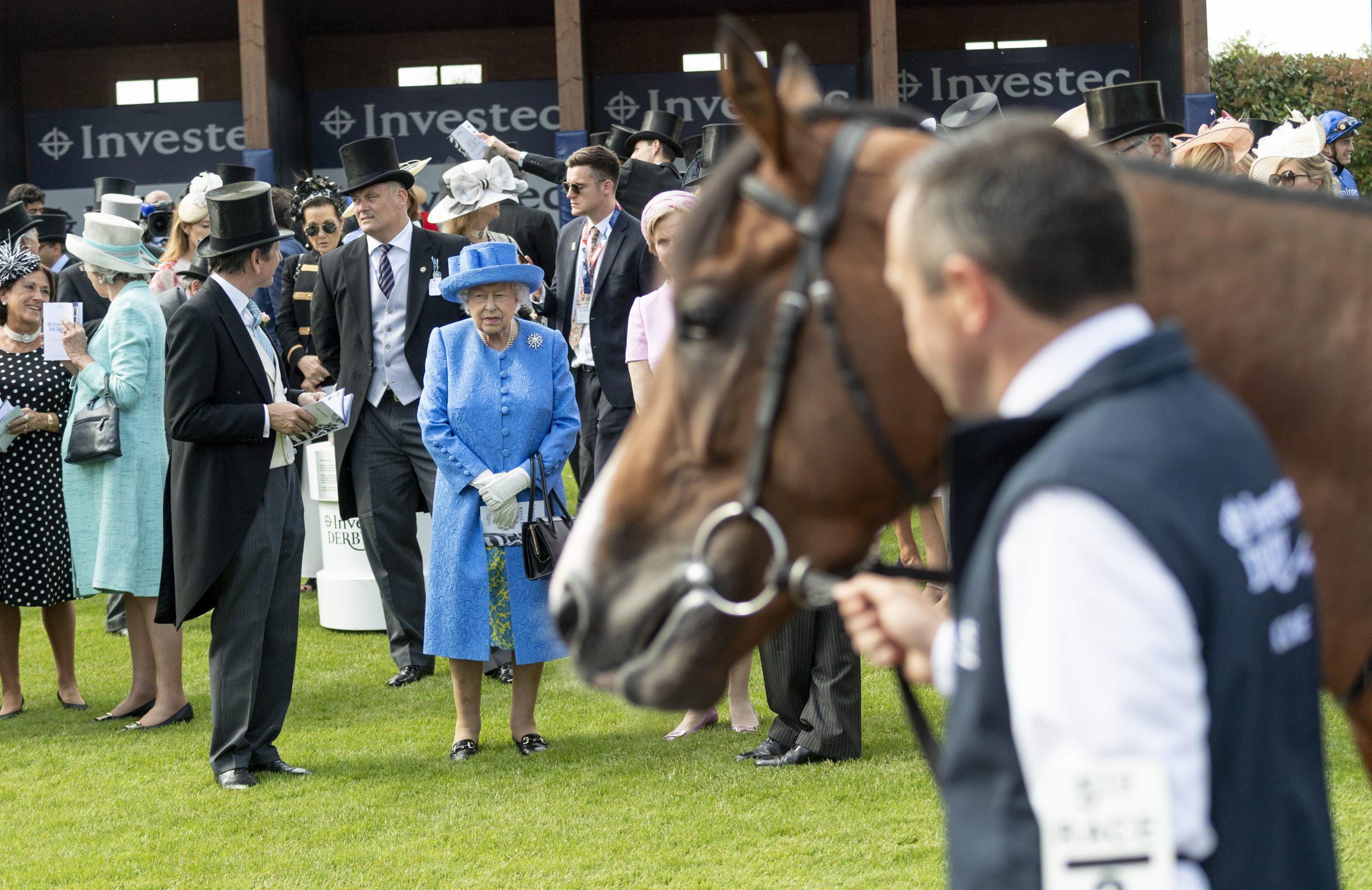 Jour férié du jubilé de platine de la Reine, la Reine, le Derby d'Epsom Downs.