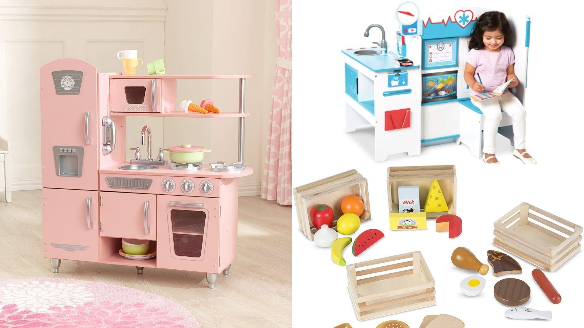 Offres de jouets en bois Prime Day jouets en bois cuisine en bois nourriture en bois